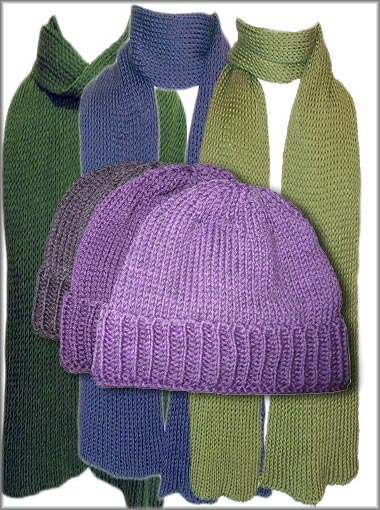 Hats and Scarves knitted in Australia