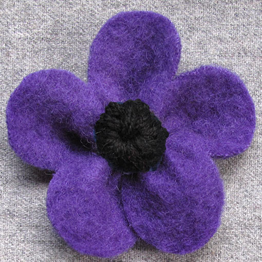 felt brooches handmade in Australia